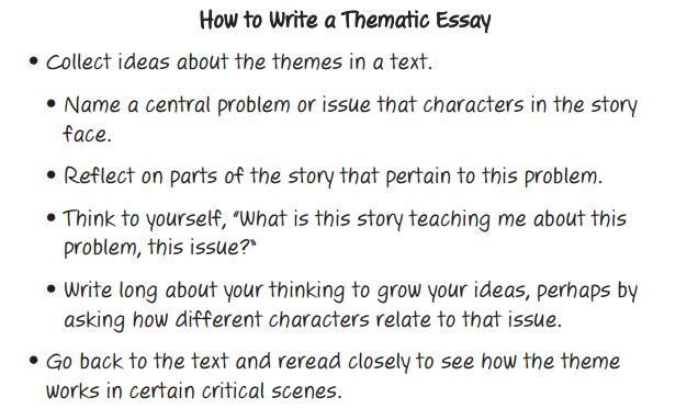 Sample theme essay